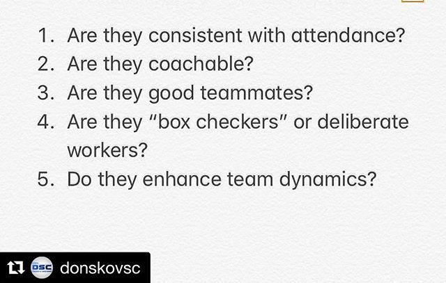 @donskovsc lays it out there for youth hockey players. These are the questions we are asked by junior/college/pro teams. #