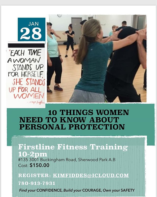 @fiddeswellness is hosting a women's self defense course at Firstline on January 28th for more information and to register please contact Kim. #