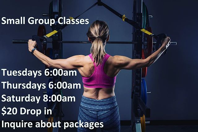 Alright New Years Resolution people. New to give your workout routine another kick start. Come try our small group training classes. We cater to all fitness levels.