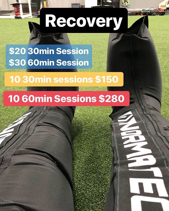 Now offering Normatec compression therapy. Great for pre and post workout recovery. Helps decrease minor muscles aches and pains. It can help increase circulation to areas of the body being treated. Call, email or drop by to book your session today.